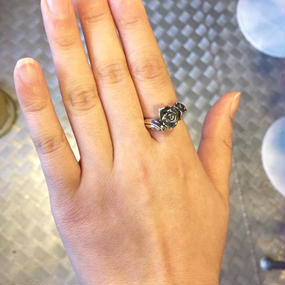 [GLAM SCALE-ring] シルバーリング薔薇