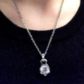 [Artemis Classic-pendant] ストーンクラウンチャームWH