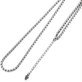 [チェーン-cn]45-50cm ステンレス甲丸ベネチアンチェーン(3.0mm)(Artemis Classic)