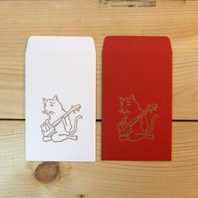 猫が三味線 ポチ袋