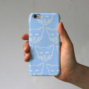 スマホケース 猫いっぱい(ブルー)