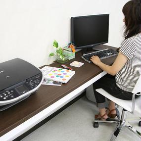 【激安/ネット最安値】薄型パソコンデスク ハイタイプ 幅180×奥行45 ブラウン