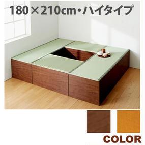 【激安/ネット最安値】畳収納ユニット ハイタイプ幅180cmx210cm Bセット ブラウン又はナチュラル