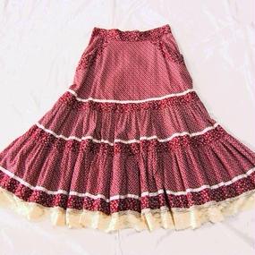 70s ''GUNNE SAX'' Fril Skirt