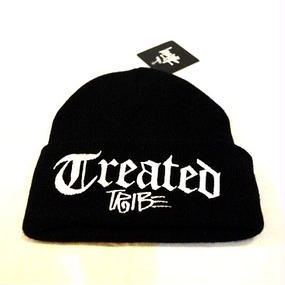 ''STUSSY'' OLD TREATED TRIBE CUFF BEANIE