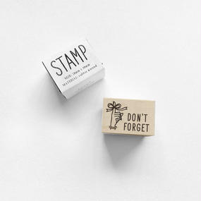 〈DON'T FORGET〉スタンプ
