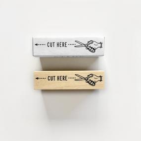 〈CUT HERE〉スタンプ