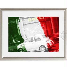 A4 ポスターフレームセット  【Fiat & Gucci #hi18】