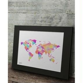 A1 高級マットパネル【 LV WORLD MAP 】