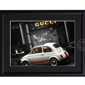 A4 ポスターフレームセット  【 Fiat & Gucci #hi17 】