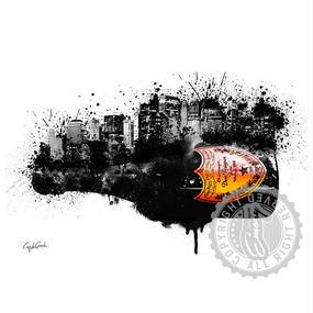 A1 ポスターフレームセット 【 DOM PERIGNON City 】