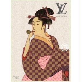 キャンバス530×410×D20mm 【 UTAMARO ART 喜多川歌麿 オマージュ #sh01 】