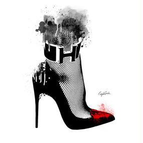 キャンバス 410×273×D20mm 【 High heel 】