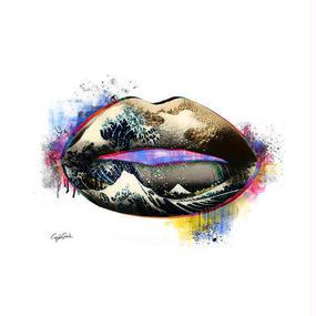 キャンバス 410×273×D20mm 【 Lip wave 】