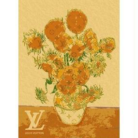 キャンバス410×273×D20mm 【Van Gogh Sunflowers #sh10】