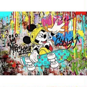 キャンバス410×273×D20mm  【 Micky Street #td40】