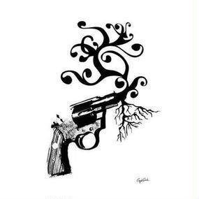 キャンバス 727×530×D20mm 【 tree gun 】