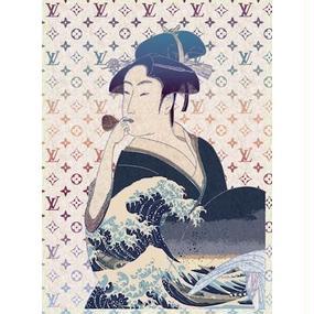 キャンバス410×273×D20mm 【 UTAMARO & HOKUSAI #sh25 】