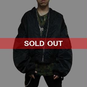 【USED】SCHOTT OVERSIZED MA-1 BLACK