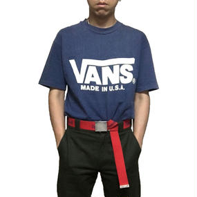 【USED】90'S VANS T-SHIRT MADE IN USA