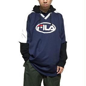 【USED】90'S FILA FOOTBALL T-SHIRT NAVY