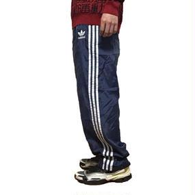 【USED】90'S ADIDAS NYLON TRACK PANTS NAVY