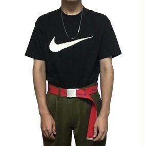 【USED】90'S NIKE SWOOSH T-SHIRT BLACK
