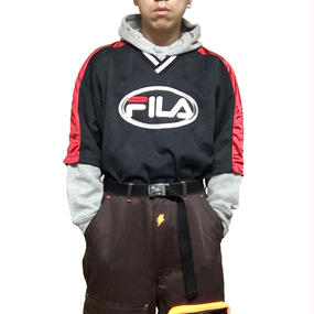【USED】90'S FILA FOOTBALL T-SHIRT BLACK