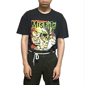 【USED】90'S MISFITS × PUSHEAD T-SHIRT