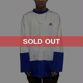 【USED】90'S ADIDAS POLYESTER L/S T-SHIRT