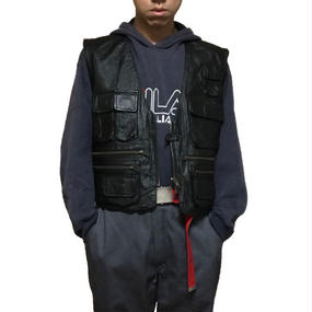 【USED】LEATHER TACTICAL VEST
