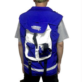 【USED】90'S POCARI SWEAT VEST with BACKPACK