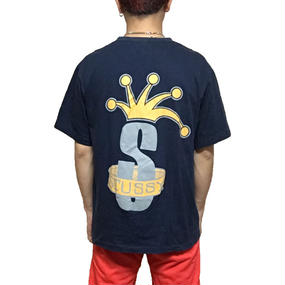 【USED】90'S STUSSY CROWN T-SHIRT
