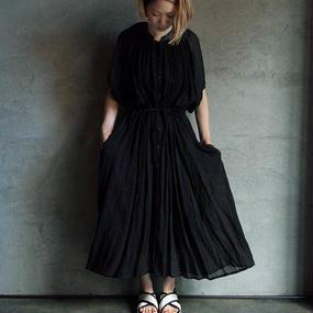Tabrik linen dress black