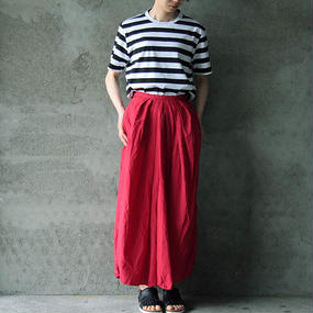 COMMONO reproducts gathered skirt red