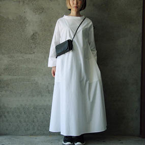 THE FACTORY A-line long dress (white)
