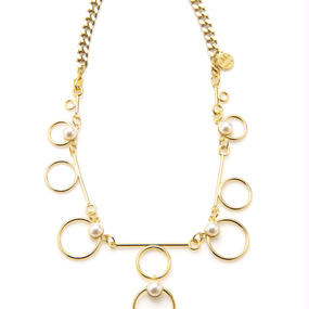 a-line circle necklace (gold)