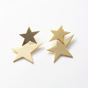 big star set pierce(mat gold/shine gold)