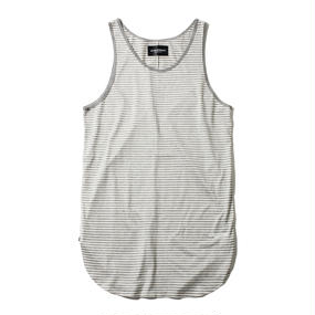 -NAMED- BORDER TANK TOP (GRY)
