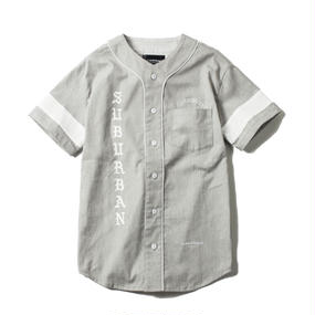 -FLAG- BASEBALL SHIRT (GRY)