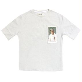 [EASY BUSY] Baseballcard 1/2 Shirts – White