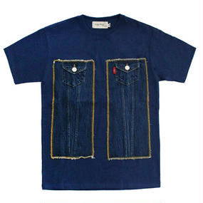 [EASY BUSY] Truker Detail T-Shirts – Blue