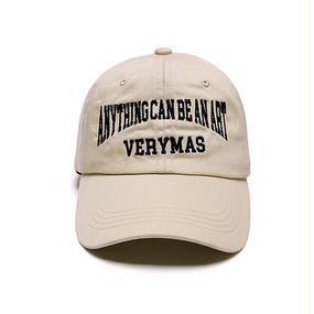 「VERYMAS」LETTERING BEIGE BALL-CAP