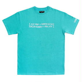 I AM NOT A HUMAN BEING[17SS] Retro Reflective Basic Logo T-Shirts - Emerald