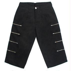 [EASY BUSY] Capri Zipper Detail Pants – Black