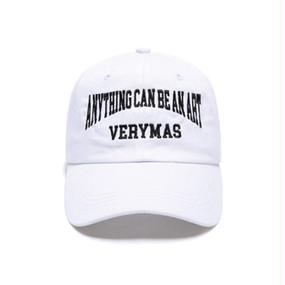 「VERYMAS」LETTERING WHITE BALL-CAP