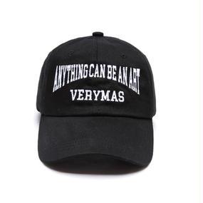「VERYMAS」LETTERING BLACK BALL-CAP