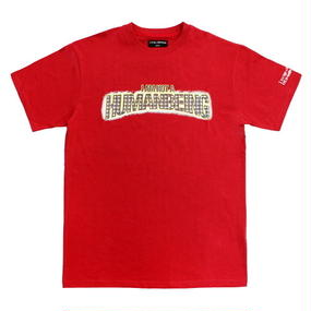 I AM NOT A HUMAN BEING[17SS] Bling Logo T-Shirts – Red