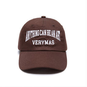 「VERYMAS」LETTERING BROWN BALL-CAP