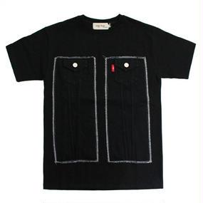 [EASY BUSY] Truker Detail T-Shirts - Black